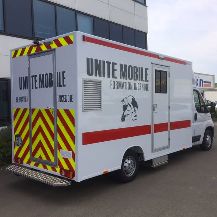unité mobile de formation incendie
