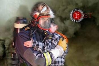 sauvetage dans la fumée