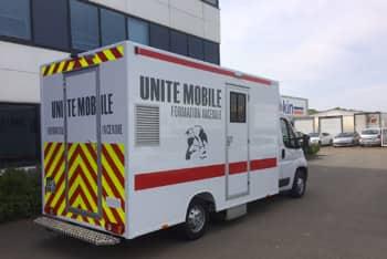 le camion umfi pour la formation incendie