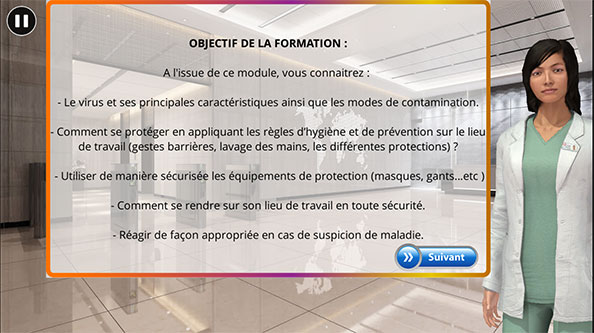 formation travail protection covid19